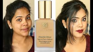 Estee Lauder Double Wear Foundation Demo Review Indian Brown Skin