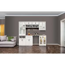 Living Room Bar Cabinet Newage Products White Woodgrain Bar Cabinet 60068 The Home Depot