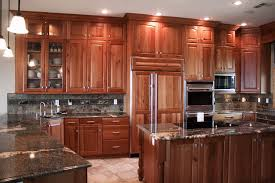 rustic cherry kitchen cabinets.  Kitchen Bulloch Contruction Project With Rustic Cherry Kitchen Cabinets E