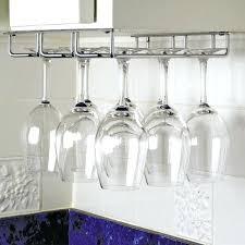 under cabinet wine glass rack hanger holder diy