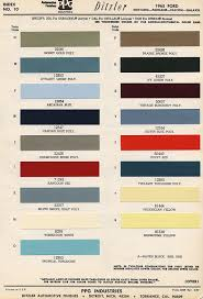 Ford Falcon Colour Chart Colors Uscars24 Classics Com