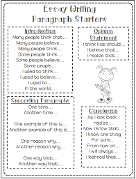 th grade resources mrs delozier s nd grade sentence starters for great essays