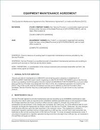 Electrical Maintenance Contract Proposal Sample Maintenance Contract ...