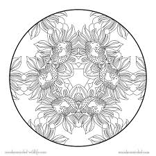 Small Picture Free Printable Flower Mandala Coloring Pages Aquadisocom
