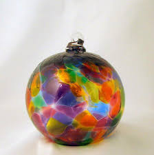 conway glass cathedral collection rainbow blown glass ornament 5