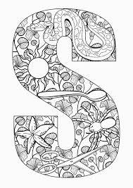 Kleurplaat Volwassenen Letters Gratis Printen En For S Coloring