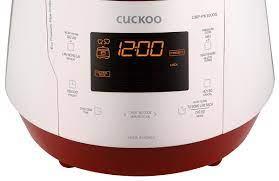Nồi cơm áp suất điện tử 1,8L Cuckoo CRP-PK1000S đỏ trắng Korea