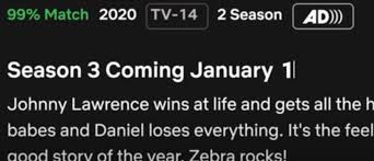 Cobra Kai season 3 release on Netflix moved forward to January 1 2021