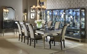 Hollywood Swank Leg Dining Room Set Aico Furniture Furniture Cart - Aico dining room set
