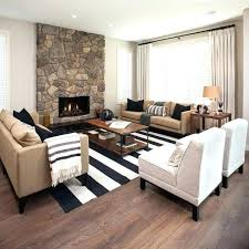 rug placement living room living room carpet classic black and white stripes proper living room rug