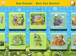 Bad Piggies Cookbook App Recipe Selection Screen