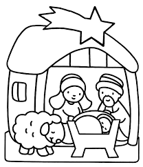 Small Picture Bible Nativity Scene Advent Coloring Pages Batch Coloring