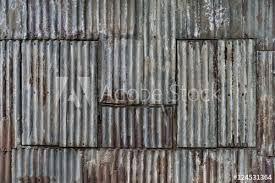 rusted corrugated sheet metal wall yangon myanmar