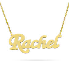 small 10kt 14kt gold personalized script name necklace nn01