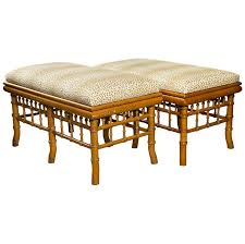 reupholster, refinish - pair of faux bamboo <b>benches</b> - LENGTH: 38 in ...