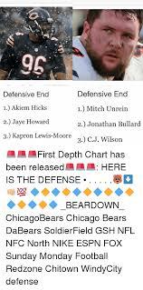 96 Defensive End 1 Akiem Hicks 2 Jaye Howard 3 Kapron Lewis