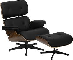hercules presideo top grain black italian leather lounge chair and ottoman set with metal base