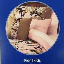 pier 1 new teen kids pink camo twin duvet cover set two standard pillow shams