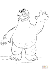 Cookie Monster Coloring Page Free Printable Pages At Monesmapyrenecom