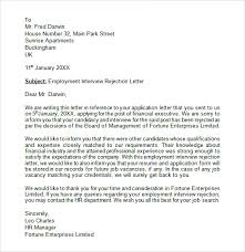 Magnificent Job Rejection Letter After Interview Pattern Examples