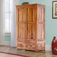 simple wooden armoire