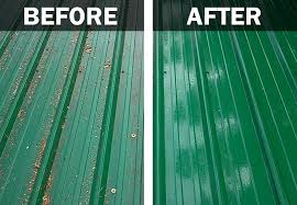 clean metal roofing example cleaning a metal roof