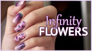 Infinity Flowers Nail Art Tutorial | Pattern Nails - YouTube