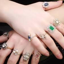 the plete antique rings collection of adin antique jewelry antwerp belgium