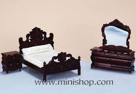 dolls furniture set. Dollhouse Furniture | 3pc Victorian Bedroom Set, Mahogany Inside My Doll House Pinterest Dolls, Houses Dolls Set H