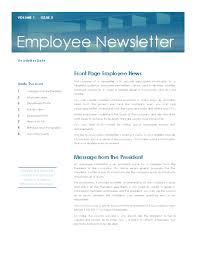 Employee News Employee Newsletter