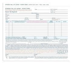 Bill Of Lading Free Form Blank Straight Bill Of Lading Umbrello Co