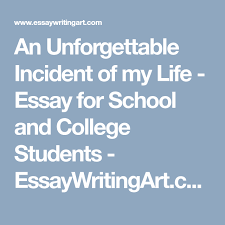essay my life an unforgettable incident of my life essay for school and college