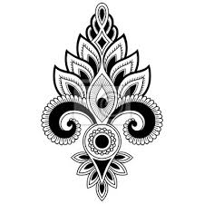 Fototapeta Henna Tetování Květina Vzor V Indickém Stylu Etnické Květinové
