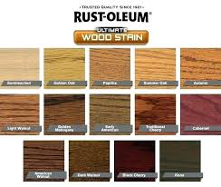 Furniture Stain Colors Chart Rust Oleum Ultimate Wood Stain Bulurum Co