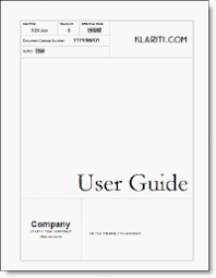 user manual template user guide tutorial technical writing
