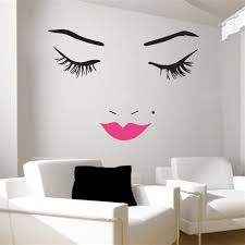 beautiful face wall decal lips wall decals wall decal