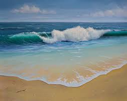 final details ocean wave seascape oil painting p j cook artist
