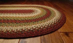 homee decor cotton braided santa fe sunrise red area rug