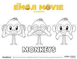 Small Picture Printable Emoji Movie Coloring Pages TheEmojiMovie EmojiMovie