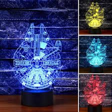 Millennium Falcon Star Wars Lighting Gadget Lamp Decor Awesome Gift Home Gadgets Optical Illusion Millennium Falcon Decor Toy