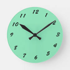 plain mint green background. Simple Plain 12 Number Choices To Choose From Mint Green Clock Intended Plain Background L