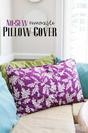 How To Wash Throw Pillows Without Removable Cover Gorgeous Large NoSew Pillow In My Own Style