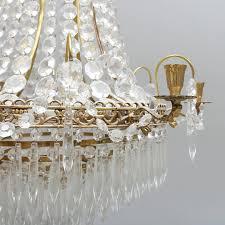 Großer Prismen Kronleuchter Aus Schweden