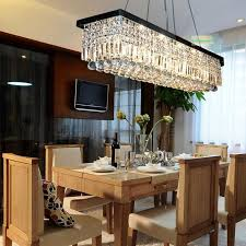 modern restaurant lighting. Modern Minimalist Rectangular Restaurant Chandeliers European Led Crystal Chandelier Lights Bar Creative Bedroom Lamp Linear Round Lighting