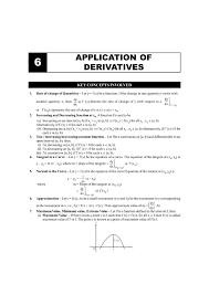 Cbse Class 12 Maths Chapter 6 Application Of Derivatives Formula
