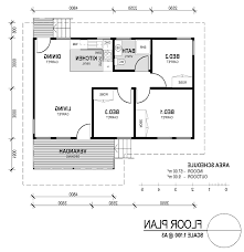 Small Three Bedroom House Home Design Floor Plan For Small 1200 Sf House With 3 Bedrooms