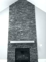 gray stone fireplace painted stone fireplace makeover gray stacked stone fireplace
