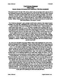 the chimney sweeper william blake detailed analysis  page 1 zoom in
