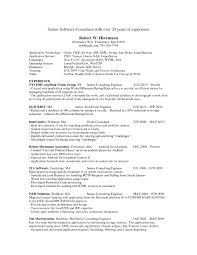 Sample Resume For Experienced Software Engineer Sample Resume For E