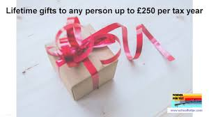 uk inheritance tax lifetime exemption for small gifts